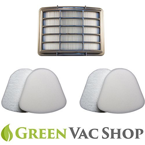 2+1 Pack Shark Navigator Lift-Away NV350, NV351, NV352, NV355, NV356, NV356E, NV357, NV360, NV370, UV440, UV540 Replacement Filter Set Of 2 Foam & 2 Felt & 1 HEPA Filters - Parts # XFF350 XHF350 (Shark Nv 352 Replacement Parts compare prices)