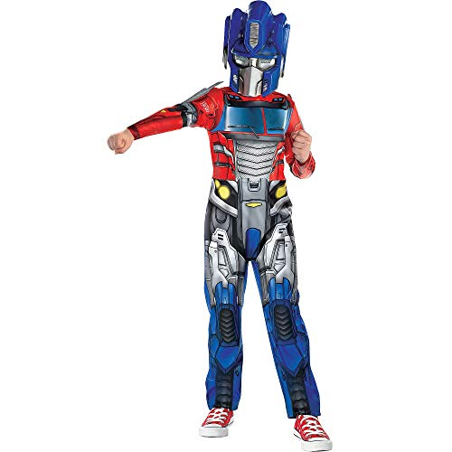 Suit Yourself Transformers Optimus Prime Costume for Boys, Size Medium, Includes an Autobot Printed Jumpsuit and a Mask]()