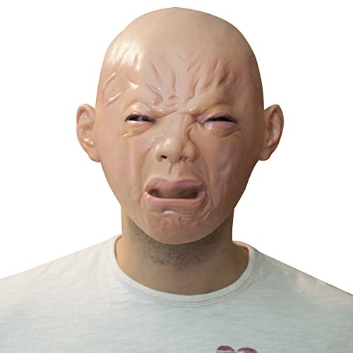 [The Mask Biz Crying Ugly Baby Head Funny Mask] (Very Funny Costumes)