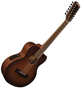 new morgan monroe vintage 12 string mini acoustic electric guitar wfishman case. Black Bedroom Furniture Sets. Home Design Ideas