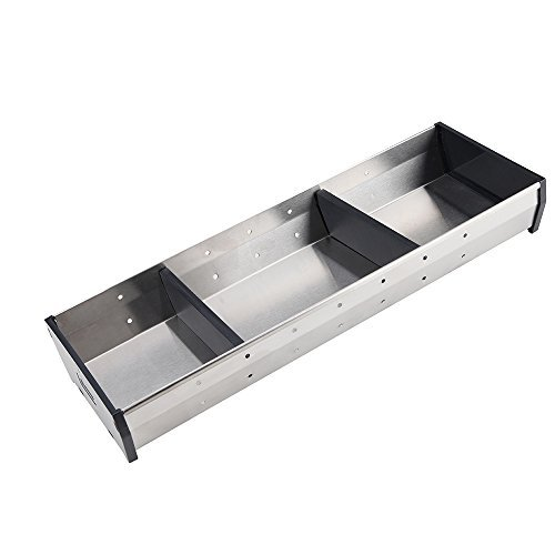 ÚNIKA+ [Stainless Steel Edition] Cutlery Tray Adjustable Utensil Organizer Flatware Drawer Dividers Kitchen Storage Organizer (Short-Med)
