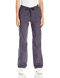 Code Happy Womens Bliss Low-Rise Drawstring Cargo Pant Certainty Fluid Barrier