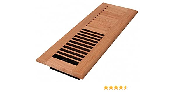 Decor Grates WL412-N Wood Louver Floor Register 4-Inch by 12-Inch Natural Oak