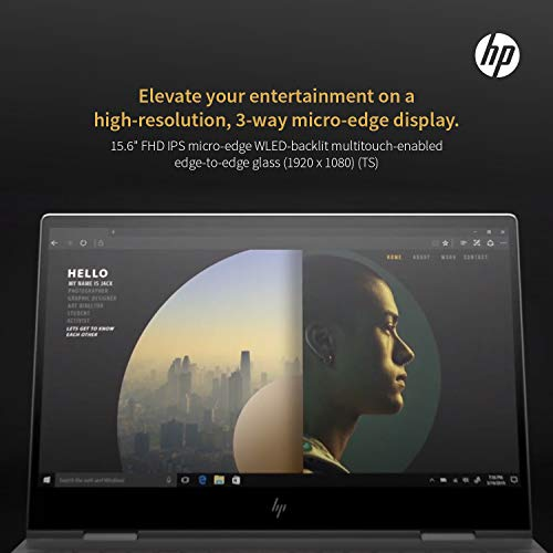 HP Envy x360 Late 2019,15.6 Full HD Touch,Intel i7-10510U Quadcore 10th Gen,NVIDIA MX250(4 GB),1TB SSD,16GB RAM,Win 10 Pro Pre-Installed by HP, Neopack 64GB Flash Drive,B&O Speakers,Fingerprnt,HP WTY