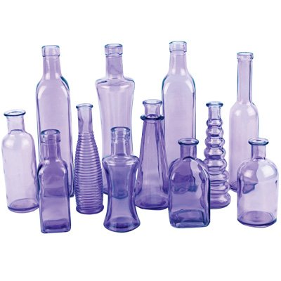 Syndicate Home & Garden 3203-24-425 Vintage Bottle Collection44; Purple - 6.75 in. - Case of 24