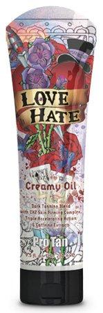 Pro Tan 2009 Love Hate Maximiser Oil crémeux pour les hommes de bronzage Lotion 9.5 oz