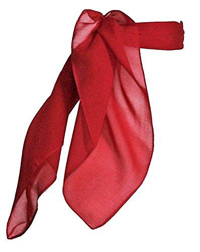 TC 50s Shop Vintage Style Sheer Chiffon Neck Purse Costume Scarf (Jumbo Red 27