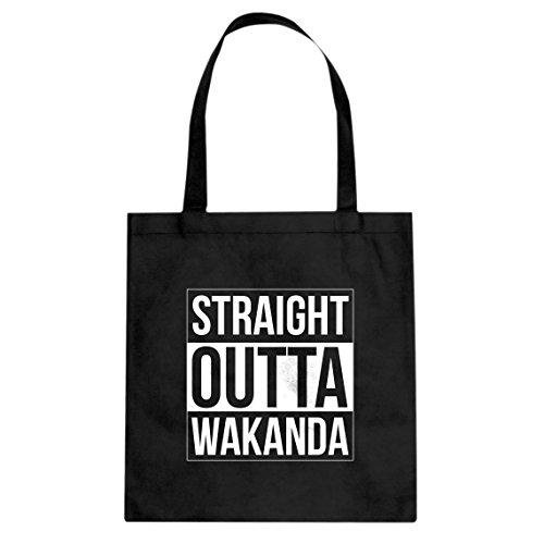 Tote Straight Outta Wakanda Large Black Canvas Bag]()