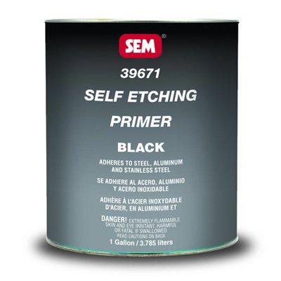 SEM 39674 VOC Black Self Etching Primer - 1 Quart by SEM