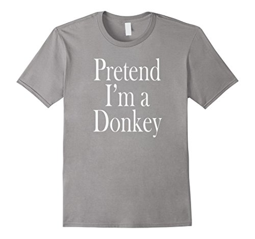 Minute Costumes Men Last (Mens A Donkey Costume T-Shirt for the Last Minute Party Large)