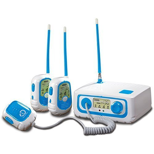 Discovery Kids Walkie Talkie Base Station Set l Extended Talk Range and Clear Sound