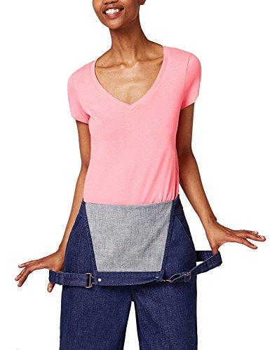 Esprit Women's V-Neck T-Shirt Pink in Size L Esprit Womens Tee