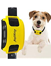 AngelaKerry Wireless Dog Fence System with GPS, Outdoor Pet Containment System Rechargeable Waterproof Collar EF 851S Remote for 15lbs-120lbs Dogs