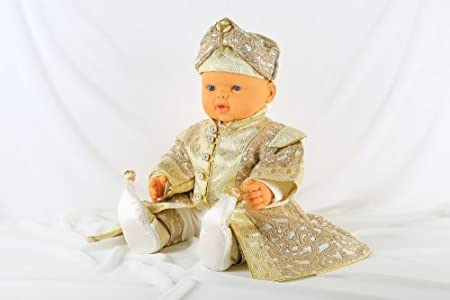 Beschneidungsanzug Bebek Gr/ö/ße 1-5 Monate Yigit S/ünnet Beschneidungskleidung S/ünnet D/üg/ün Creme S/ünnetlik