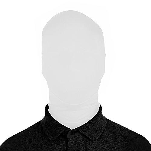 Slenderman Costumes For Kids (SecondSkin 2Face Solid Spandex Mask - White)