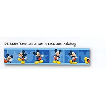 Selbstklebende wieder entfernbare Bordüre Disney Micky Maus ...