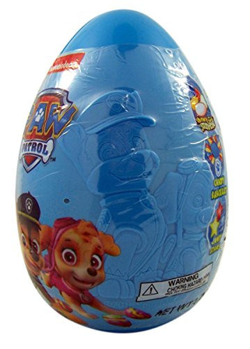 Paw Patrol Easter Jumbo Plastic Egg with Candy, Stickers, an
