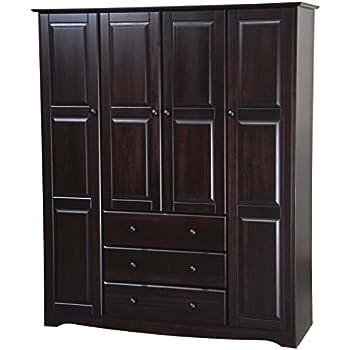 Amazon Com 100 Solid Wood Grand Wardrobe Armoire Closet