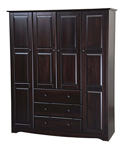 New! 100% Solid Wood Family Wardrobe/Armoire/Closet 5966 by