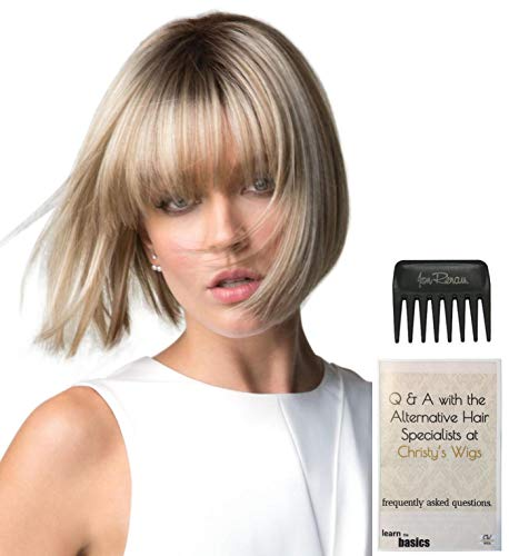 (Bundle - 3 Items: Tori Wig by Rene of Paris, Christy's Wigs Q & A Booklet & Wide Tooth Comb - Color: CREAMY TOFFEE)