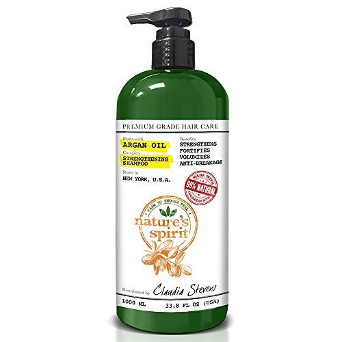 Used, Nature's Spirit Argan Oil Shampoo 33 oz. - Moisturizing, for sale  Delivered anywhere in USA