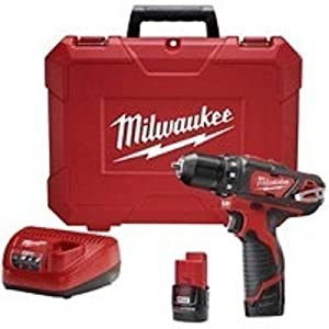 "New Milwaukee 2407-22 M12 3/8"" 12 Volt Cordless Drill Drill Kit With Case"