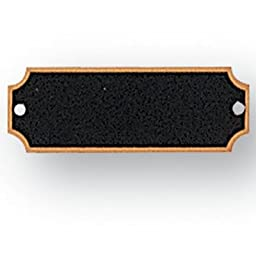 2-1/2 X 7/8 Inch Perpetual Plaque Plates Black Screened - Package of 16
