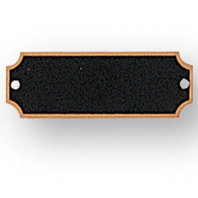 Black Perpetual Plaque - 2-1/2 X 7/8 Inch Perpetual Plaque Plates Black Screened - Package of 16