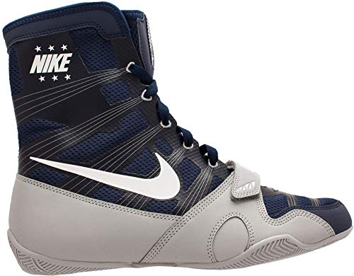 Nike HyperKO Boxing Shoes (Navy/Grey, 7 M US)