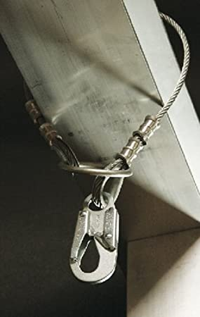 Guardian Fall Protection 10442 6-Foot Vinyl Coated Galvanized Cable Choker Anchor with Thimble Ends