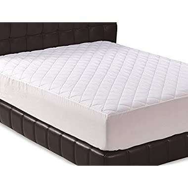 Quilted Fitted Mattress Pad (Full) - Mattress Cover Stretches Up To 17-Inch Deep - Mattress Pad - By Utopia Bedding