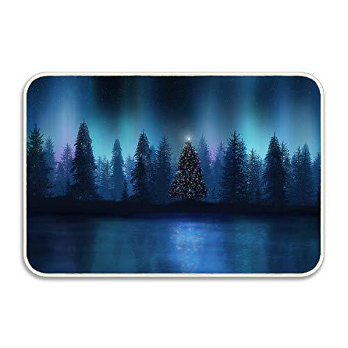 FunnyLife Custom Doormats Christmas Tree Entrance Mat Floor Rug Indoor/Outdoor/Front Door/Bathroom Mats Rubber Non Slip