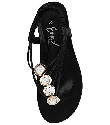 Donna Foster Ragazza' Sandali Black da Footwear gnq8wnSP