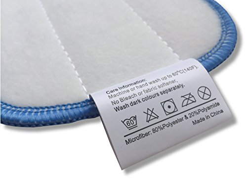 "Microfiber Pros Reusable 18"" Mop Pads – 5-Pack with 2 Bonus Cloths - Commercial Grade 450 GSM Flat Replacement Heads for Wet Or Dry Floor Cleaning and Scrubbing by Microfiber Pros (Image #7)"