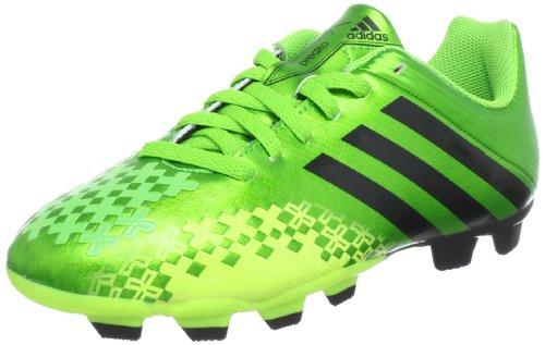adidas Performance Predito LZ TRX FG J Q21684, Jungen Fußballschuhe, Grün (RAY GREEN F13 / BLACK 1 / ELECTRICITY), EU 36 (UK 3.5)