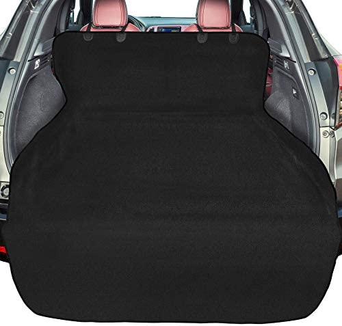 F-color SUV Cargo Liner for Dogs, Waterproof Pet Cargo Cover Dog Seat Cover Mat for SUVs Sedans Vans with Bumper Flap Protector, Large Size Universal Fit