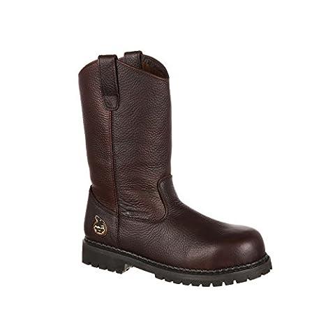 Georgia Men's Oiler-M Steel Toe Work Boot, Dark Brown, 10 M US