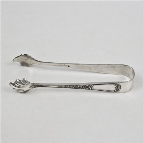 Ancestral by 1847 Rogers, Silverplate Sugar Tongs (Tongs Silverplate Sugar)