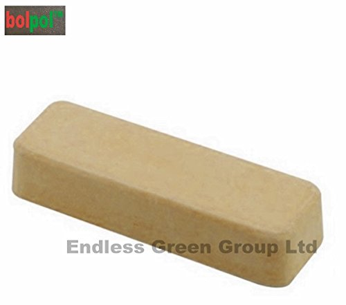 Bolpol - Cream solid compound polishing bar - Buffing bar / Polishing compound for Hardwood, Horn and Plastics - CREAM 110g Endless Green Group Ltd