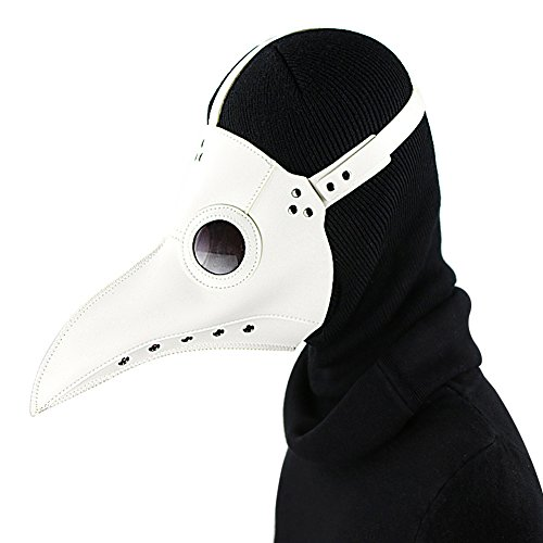 SaiDeng-Halloween-Party-Mask-Plague-Doctor-Cosplay-Props-Steampunk-PU-Leather-Mask