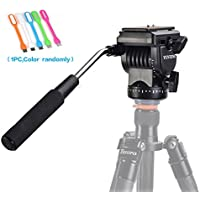 SUPON Video Camera Tripod Action Fluid Drag Pan Head For Canon Nikon Sony Pentax DSLR Camera Camcorder Shooting Filming