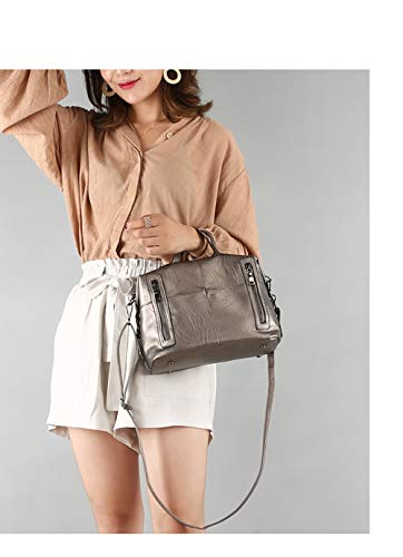 Hobo Handbag Ladies Handle for Double Bronze Tote Purse Zz18qZwr
