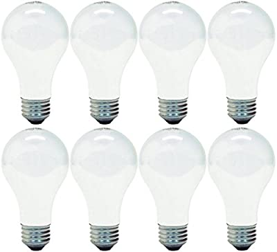 GE Lighting 66247 Soft White 43-Watt, 620-Lumen A19 Light Bulb with Medium Base, 8-Pack