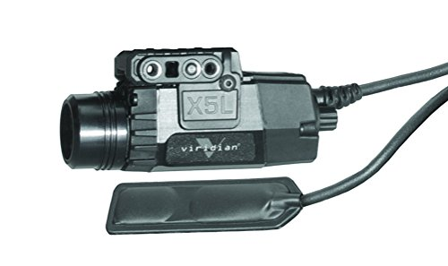 Viridian X5L-RS Green Laser Sight and Tactical Light, Universal Mount, Multiple Modes, Remote Pressure Switch