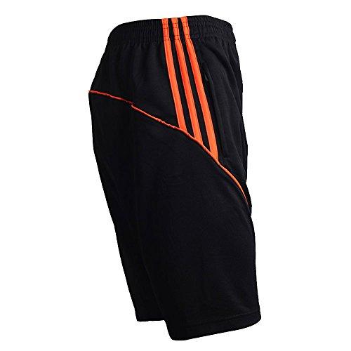 a76f816b7d5 LINGMIN Men s Quick Dry Loose Shorts Elastic Waist Solid Jersey Soccer  Short W Pocket