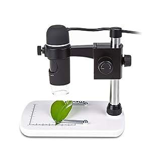 MAOZUA 5MP USB Microscope 20x-300x Magnifier Video Microscope with Professional Base Stand Support Windows XP Vista Win7 Win8 Win10 Mac