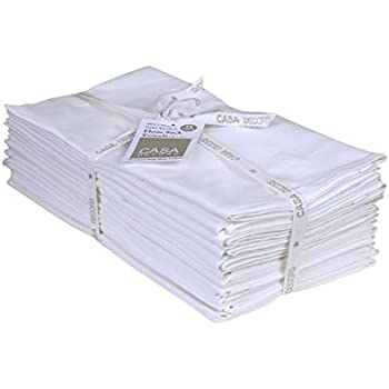 ... Multi-use Off-White Kitchen Towels, 100 % Cotton , Highly Absorbent , Tea towels for embroidery, Flour sack dish towels By CASA DECORS