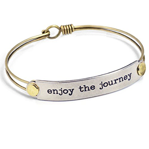 Enjoy the Journey Inspirational Message Bar Bangle Bracelet - Graduation (Inspirational Graduation Gifts)