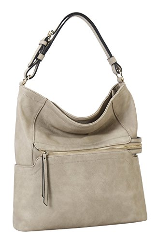 2 Pocket with Set Zipper Diophy Hobo Pieces Nude Wallet Matching Front q10wgE