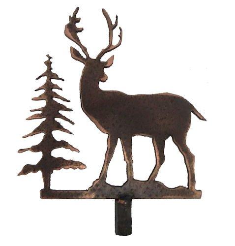 Metal deer lamp shade finial buy online in oman texas lamp mfg save aloadofball Image collections